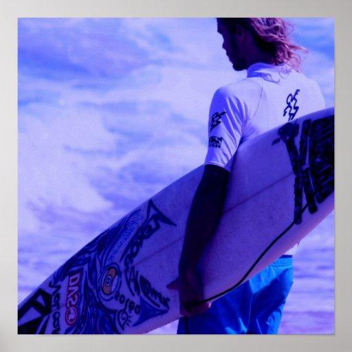 California Surfer Poster