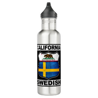 California Swedish American Water Bottle