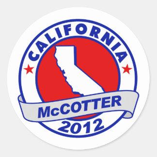 California Thad McCotter Sticker