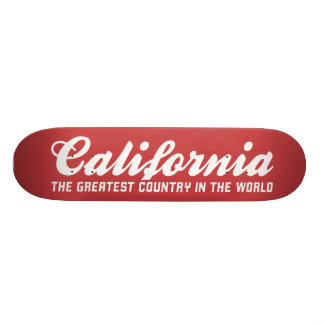california the greatest country in the world skate board