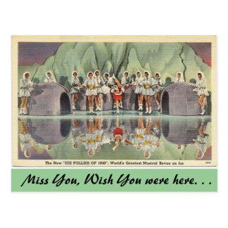 California, The Ice Follies of 1940 Postcard