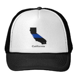 California Thin Blue Line Trucker Hat