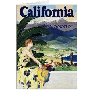 California This Summer Greeting Card