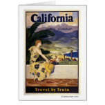 California this summer. Travel by Train  Greeting Cards