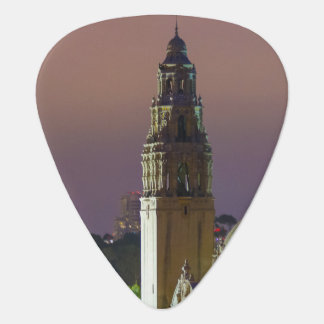 California Tower Balboa Park at Dusk Guitar Pick