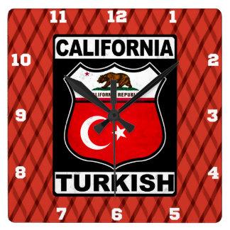 California Turkish American Clock
