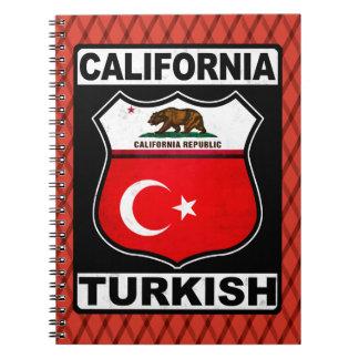 California Turkish American Notepad Notebook