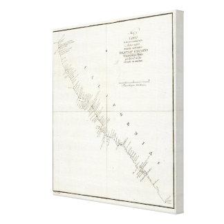 California Uncolored chart Canvas Prints