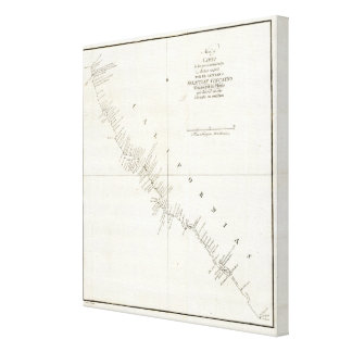 California Uncolored chart Gallery Wrapped Canvas