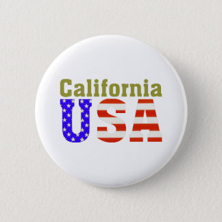 California USA! 6 Cm Round Badge