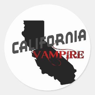 California Vampire Classic Round Sticker