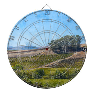 California Vineyard Dartboard