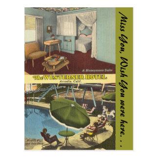 California, Westerner Hotel Postcard