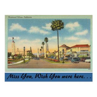 California, Westwood Village Postcard