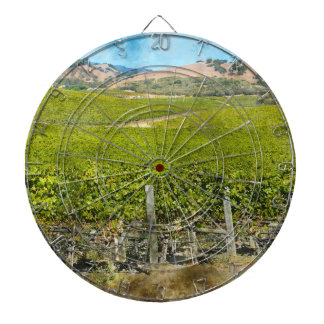 California Wine Vineyard Dartboard