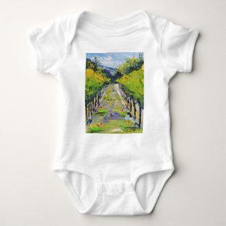 California winery, summer vineyard vines in Carmel Baby Bodysuit