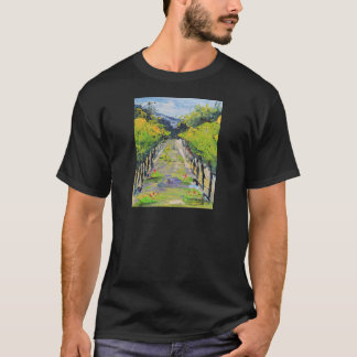 California winery, summer vineyard vines in Carmel T-Shirt