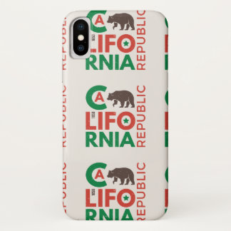 California With Grizzly Bear Logo 2 iPhone X Case