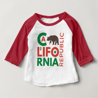 California With Grizzly Bear Logo Baby T-Shirt