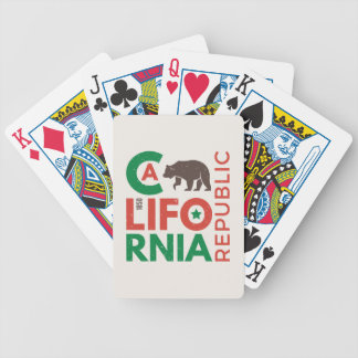 California With Grizzly Bear Logo Bicycle Playing Cards