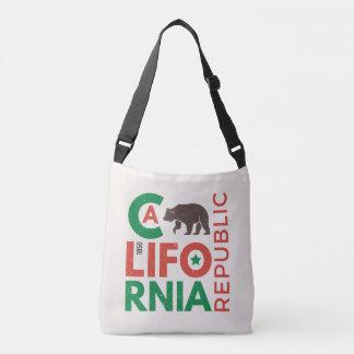 California With Grizzly Bear Logo Crossbody Bag