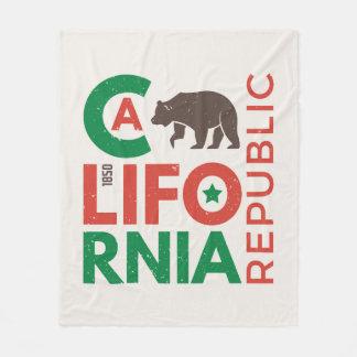 California With Grizzly Bear Logo Fleece Blanket