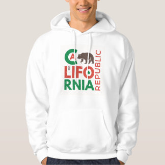 California With Grizzly Bear Logo Hoodie