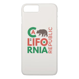 California With Grizzly Bear Logo iPhone 7 Plus Case