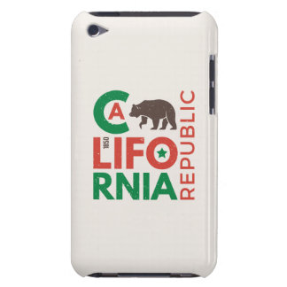 California With Grizzly Bear Logo iPod Case-Mate Case