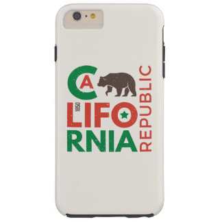 California With Grizzly Bear Logo Tough iPhone 6 Plus Case
