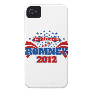 California with Romney 2012 iPhone 4 Cases