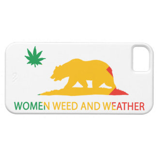 California Women Weed and Weather Flag Barely There iPhone 5 Case