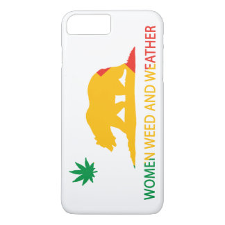 California Women Weed and Weather Flag iPhone 7 Plus Case