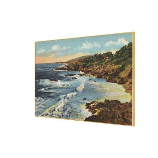 CaliforniaBeautiful Californian Coastal Scene Gallery Wrap Canvas