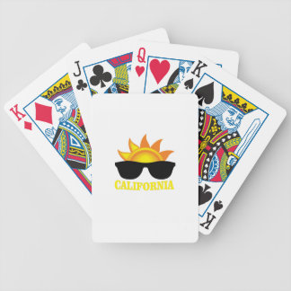 Californian cool bicycle playing cards