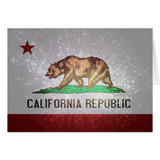 Californian Flag Note Card