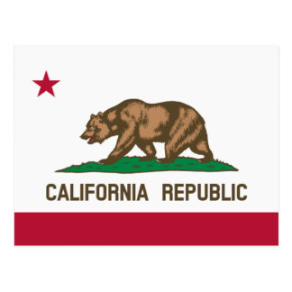 Californian flag postcards for California Republic