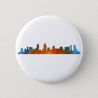 Californian San Diego City Skyline Watercolor v01 6 Cm Round Badge