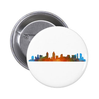 Californian San Diego City Skyline Watercolor v01 6 Cm Round Badge