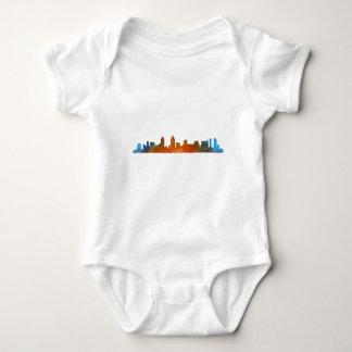 Californian San Diego City Skyline Watercolor v01 Baby Bodysuit