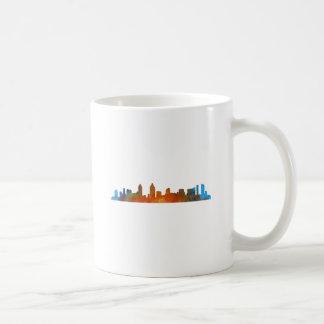 Californian San Diego City Skyline Watercolor v01 Coffee Mug