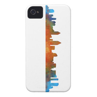 Californian San Diego City Skyline Watercolor v01 iPhone 4 Cases