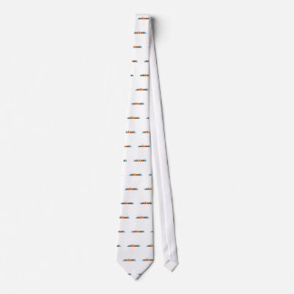 Californian San Diego City Skyline Watercolor v01 Tie