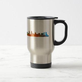 Californian San Diego City Skyline Watercolor v01 Travel Mug