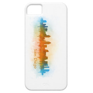 Californian San Diego City Skyline Watercolor v03 Barely There iPhone 5 Case