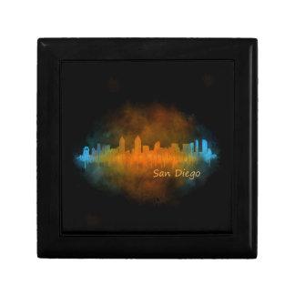 Californian San Diego City Skyline Watercolor v04 Gift Box