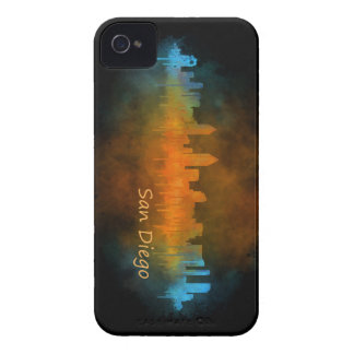 Californian San Diego City Skyline Watercolor v04 iPhone 4 Case