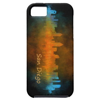 Californian San Diego City Skyline Watercolor v04 iPhone 5 Case