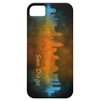 Californian San Diego City Skyline Watercolor v04 iPhone 5 Cover