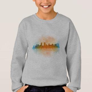 Californian San Diego City Skyline Watercolor v04 Sweatshirt